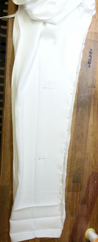 白タックパンツ細身にリメイク6