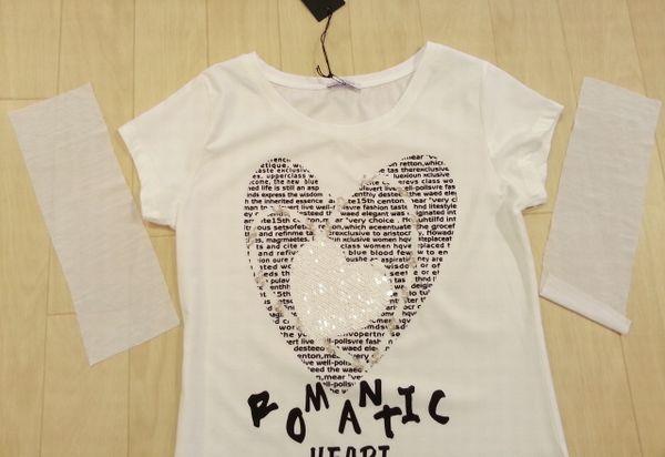 ハート白Tシャツ4