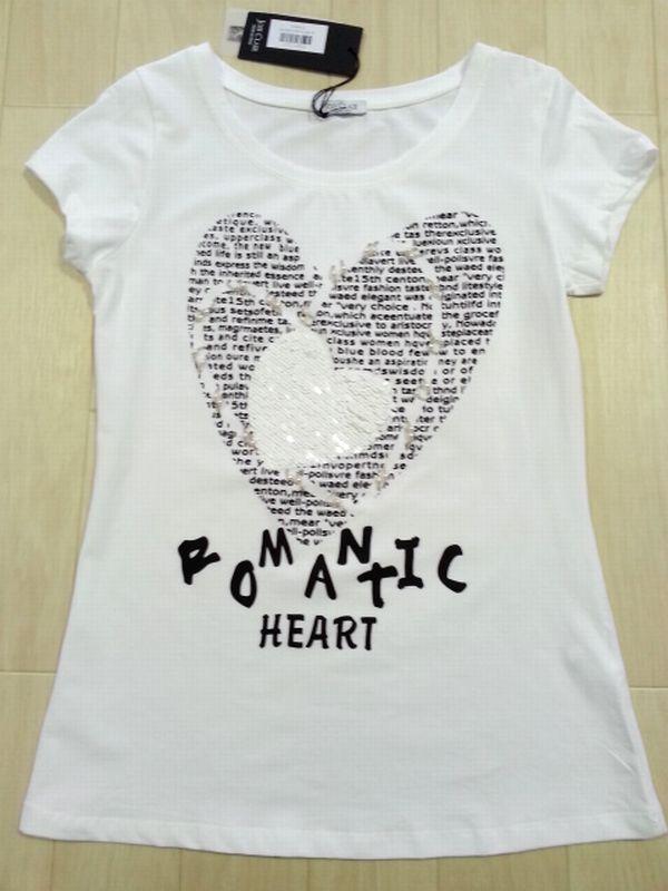 ハート白Tシャツ1