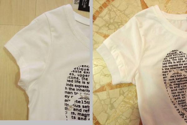 ハート白Tシャツ10