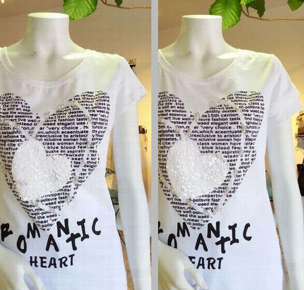 ハート白Tシャツ11