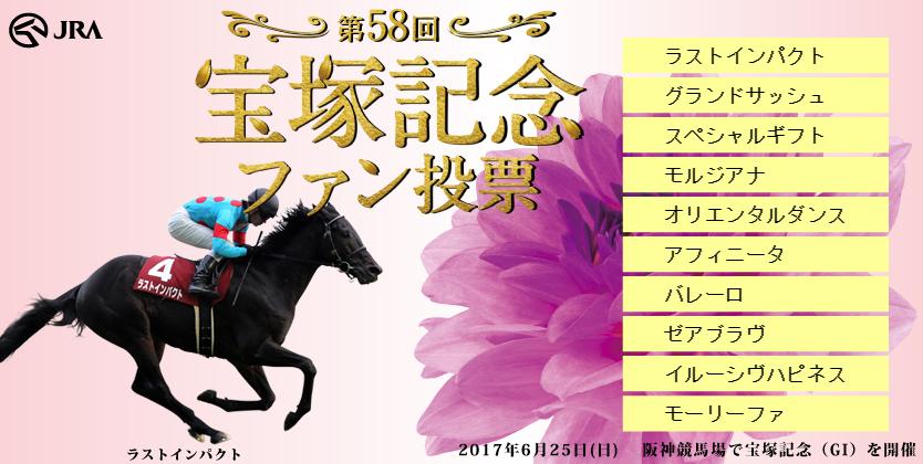 宝塚記念投票2017