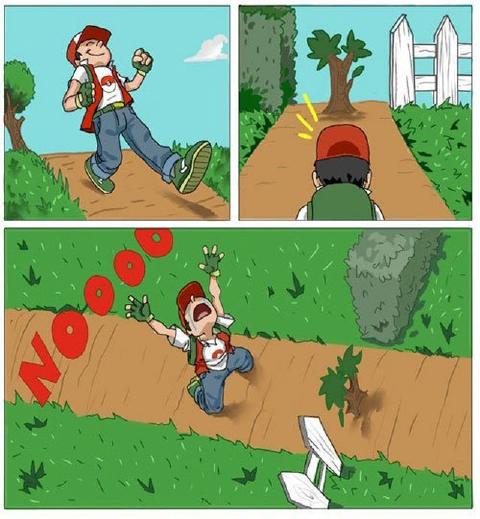 ポケモン木が邪魔で通れない面白画像