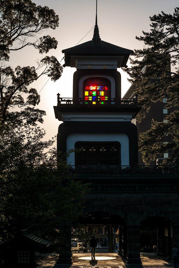 2017.04.28尾山神社の兼六園菊桜8