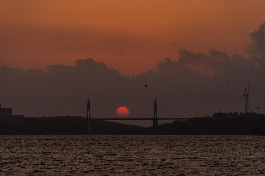 2017.04.29内灘大橋の夕陽6