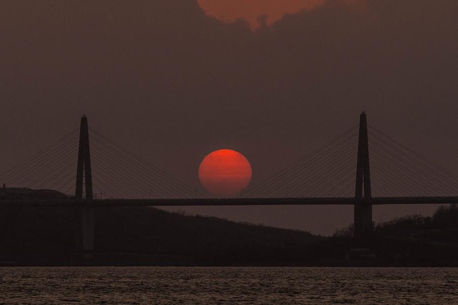2017.04.29内灘大橋の夕陽5
