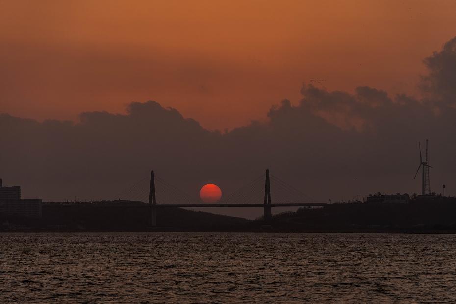 2017.04.29内灘大橋の夕陽4