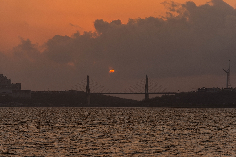 2017.04.29内灘大橋の夕陽3