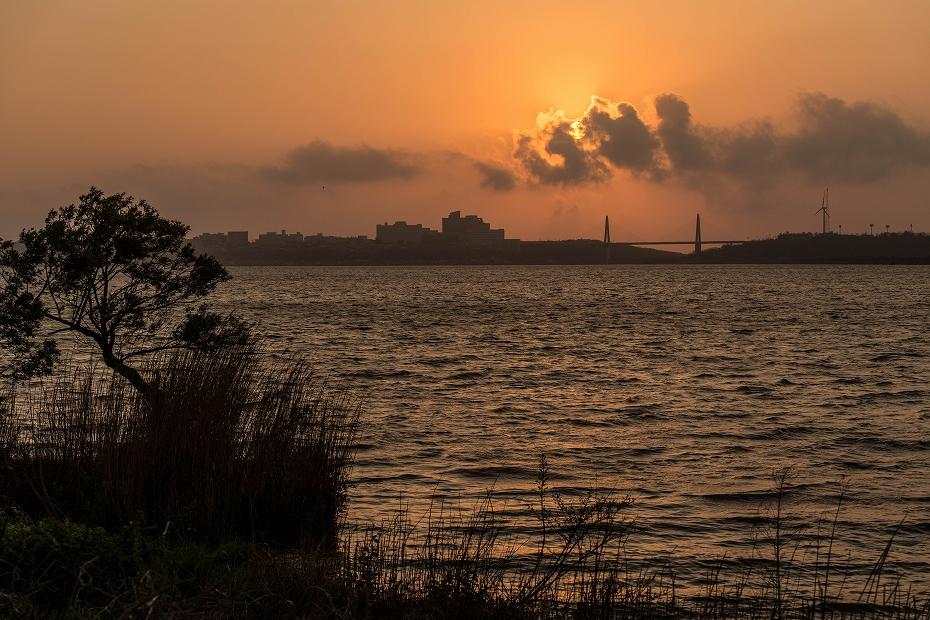 2017.04.29内灘大橋の夕陽2