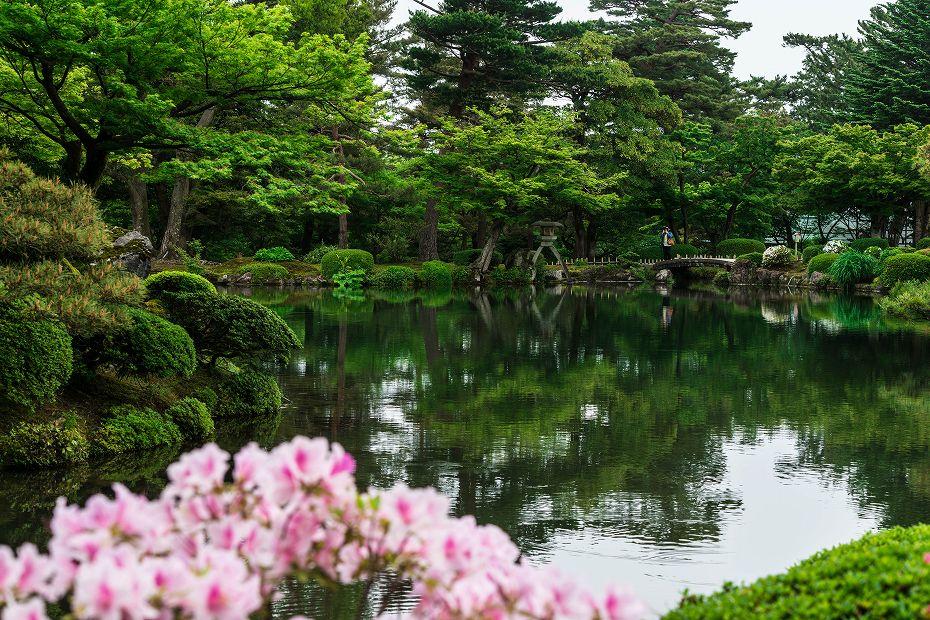 2017.05.14春の兼六園の朝景13
