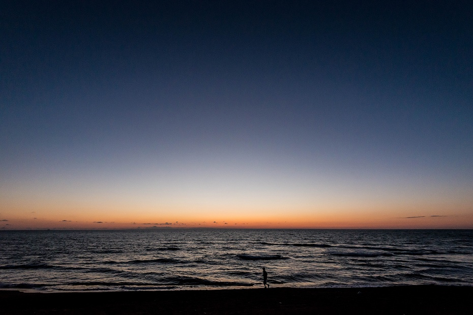 2017.06.05内灘海岸日の入り6