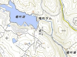 国土地理院地図より竜吟峡
