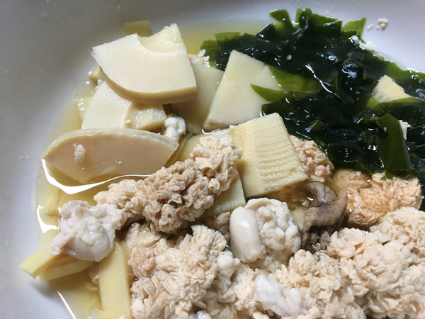 19タケノコと魚卵
