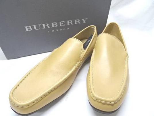 新品★BURBERRY★ バーバリー キャメル系 天然皮革 サイズ 27EEE