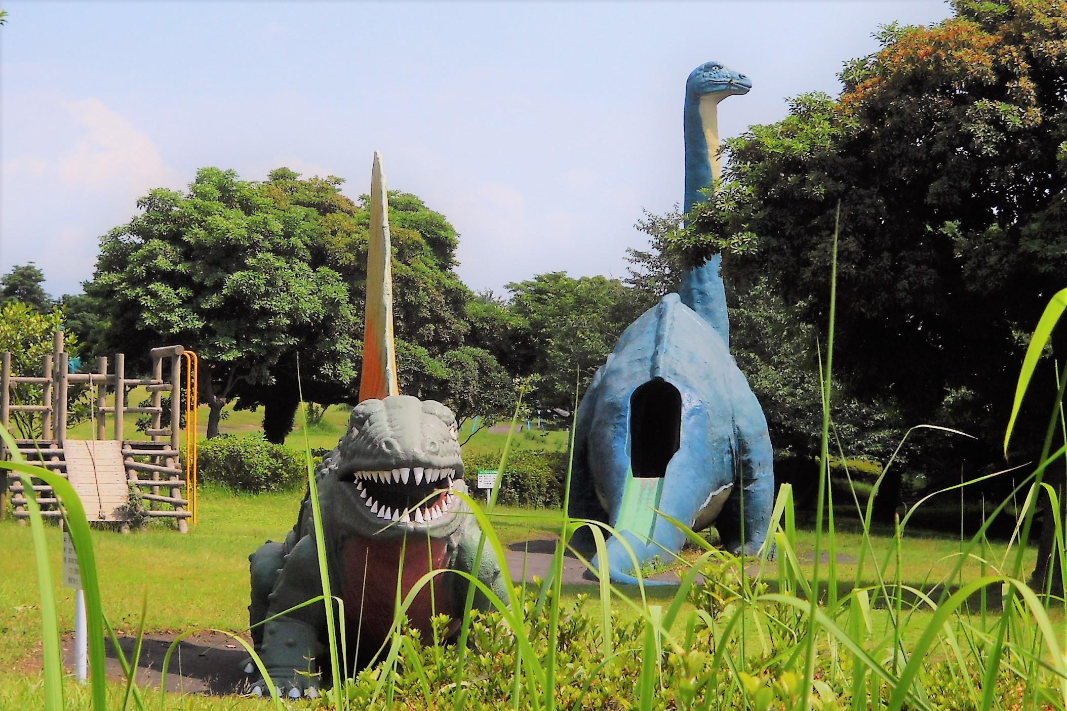 恐竜公園にて