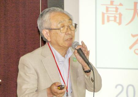 講演の佐藤宏一会長