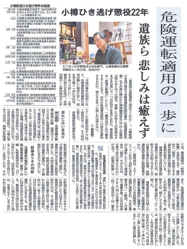 道新20170421小樽銭函事件