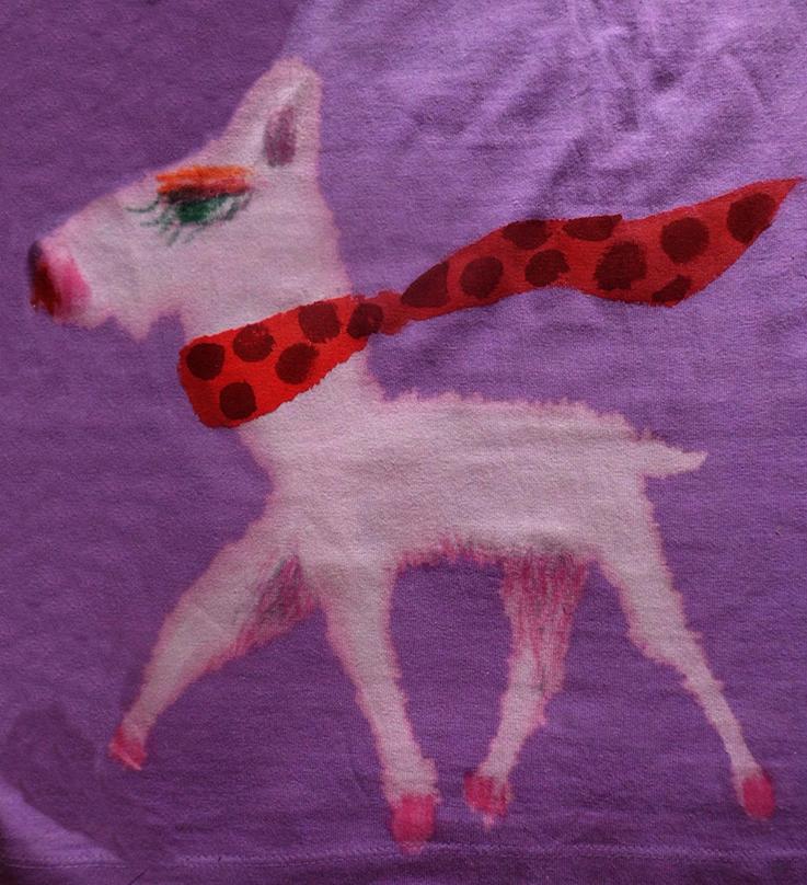 白い犬back