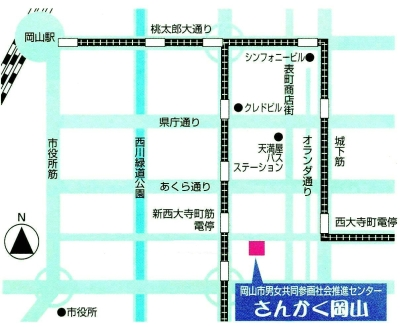 さんかく岡山・マップ