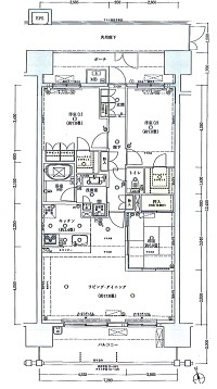 レーベン竹園1-9-5-3B間取り図
