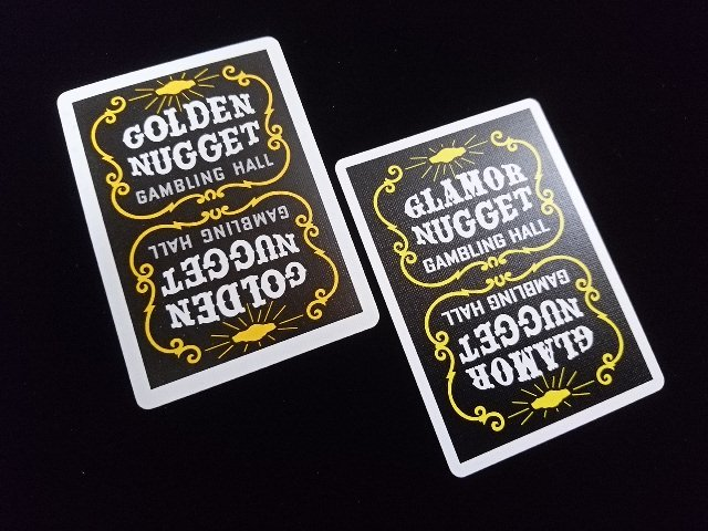 Golden Nugget Black Glamor Nugget Limited Edition Playing Cards (4a)