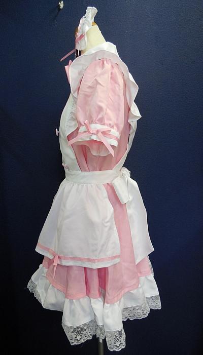 メイド服ピンク×白2