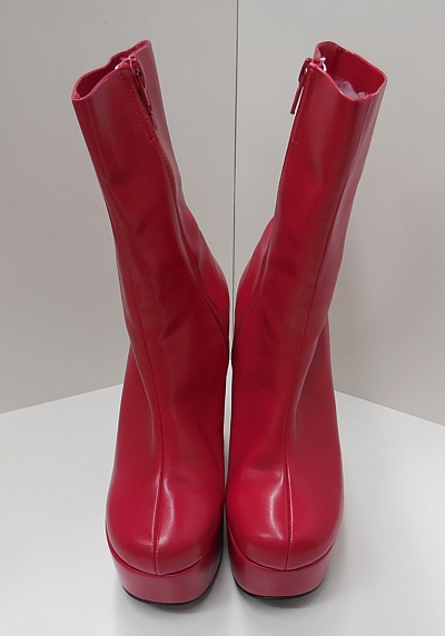 ブーツショート赤2