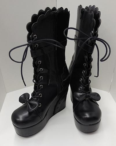 ブーツショート黒1