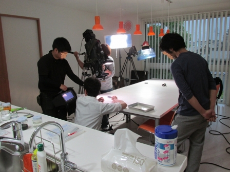 TBS撮影風景(顏モザイク入り)