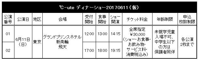 ℃-ute ディナーショー20170611(仮)