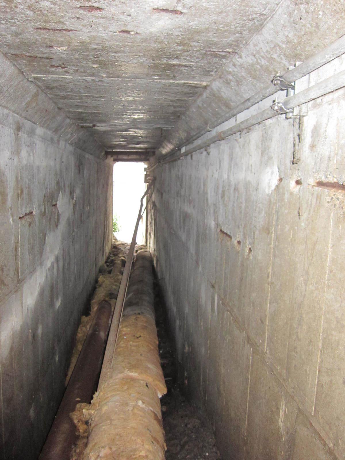東工大本館の下にある秘密の地下通路 入口を振り返って