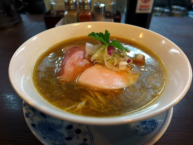 らぁ麺 紫陽花@02鶏油煮干しらぁ麺 1