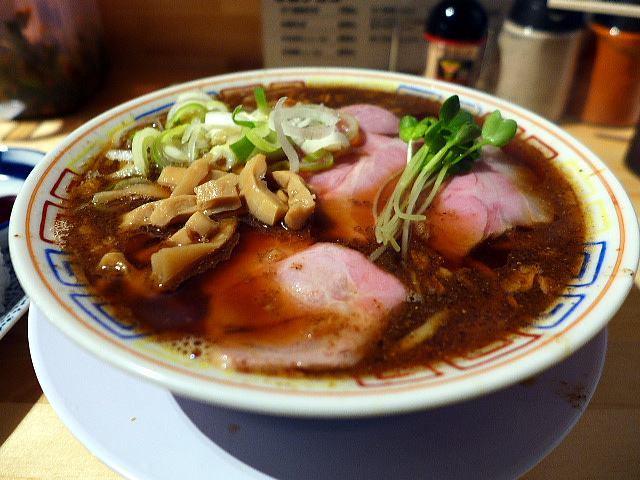 サバ6製麺所 本店@01サバ醤油そば+サバ寿司 1