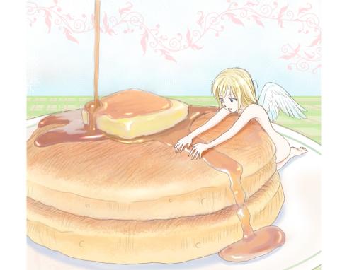 ホットケーキとスイーツ天使