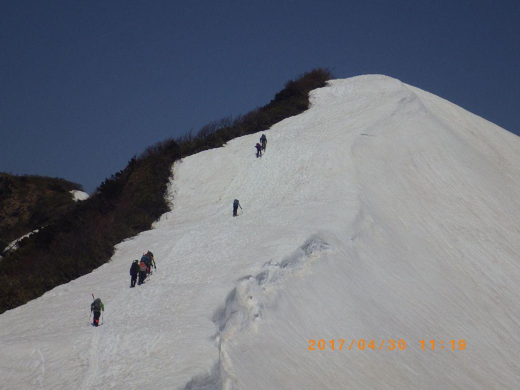 最後の登り