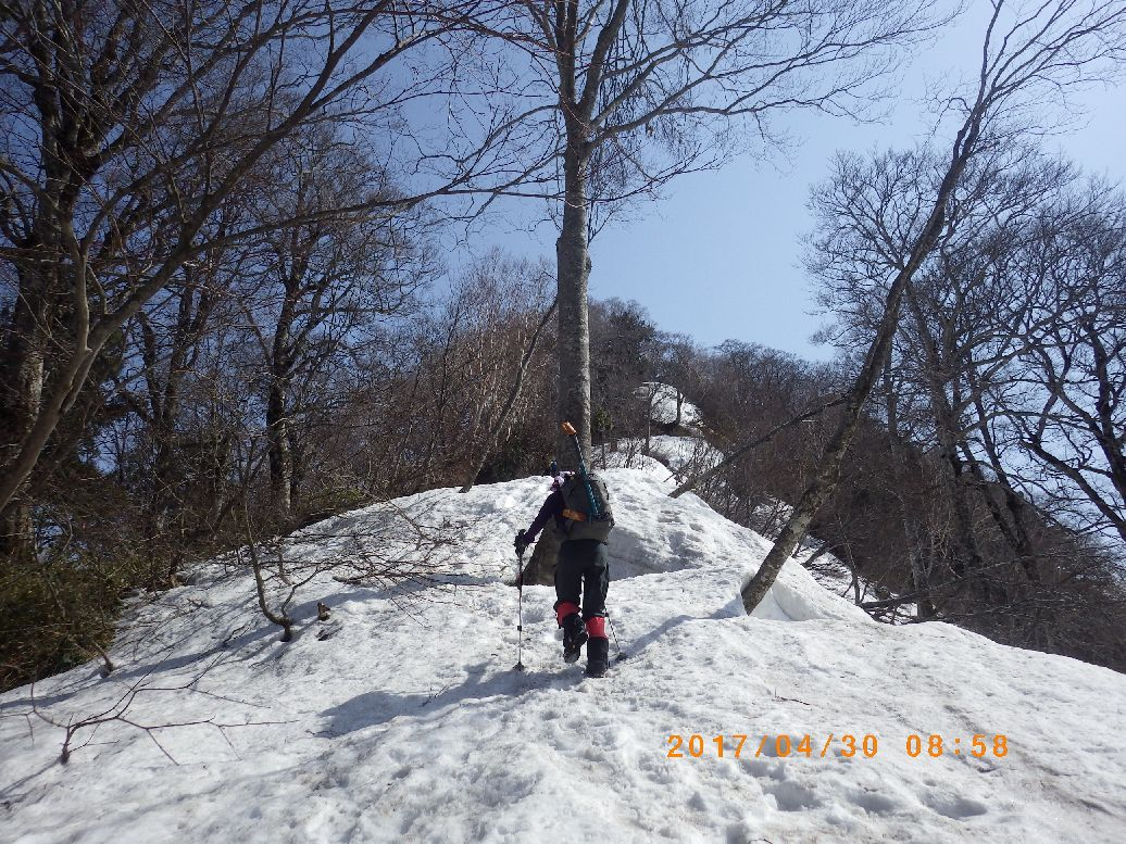 冬瓜(かもうり)山の登り