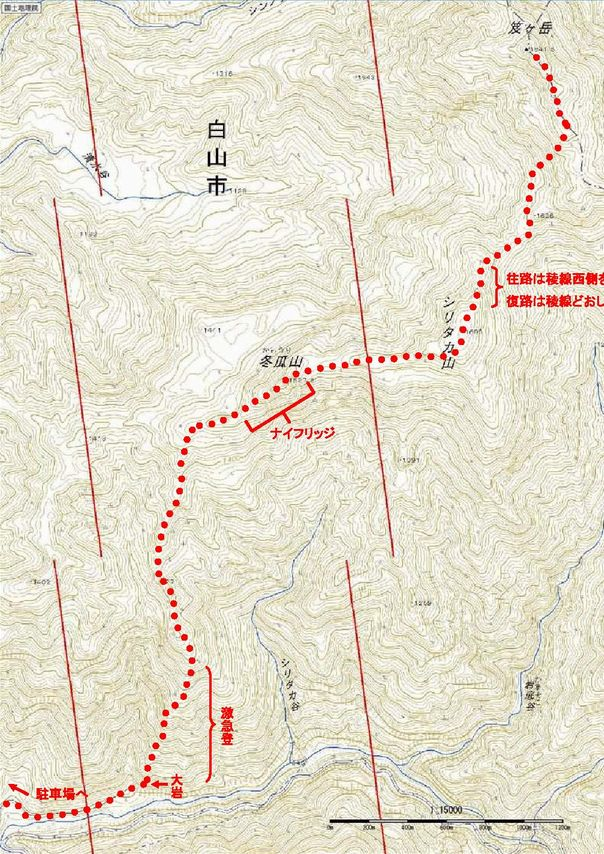 笈ヶ岳地図