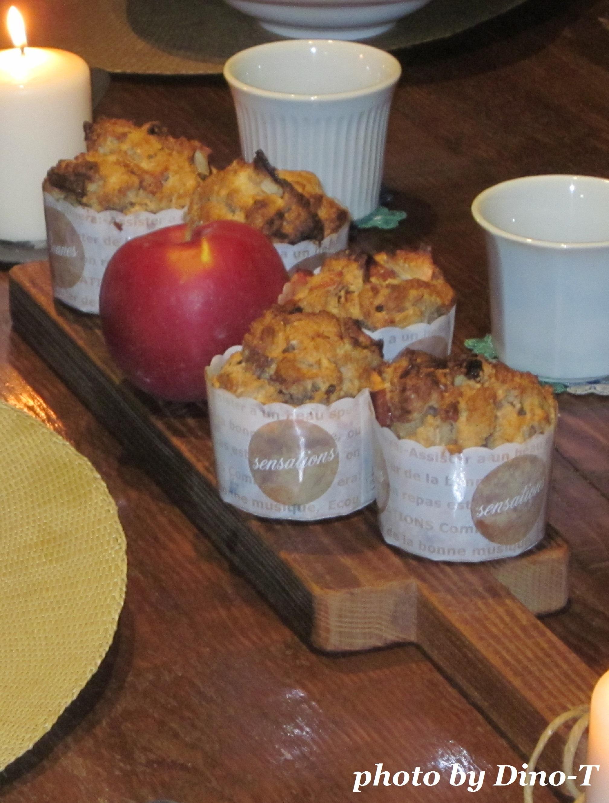 りんごのマフィンで朝食2