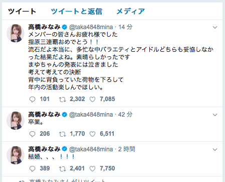 高橋みなみAKB総選挙2017年6月17日