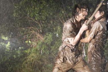 『武曲 MUKOKU』 クライマックスは雨のなかでの剣での闘い。『私の男』みたいにまた血(泥)のような雨も降ってきた。