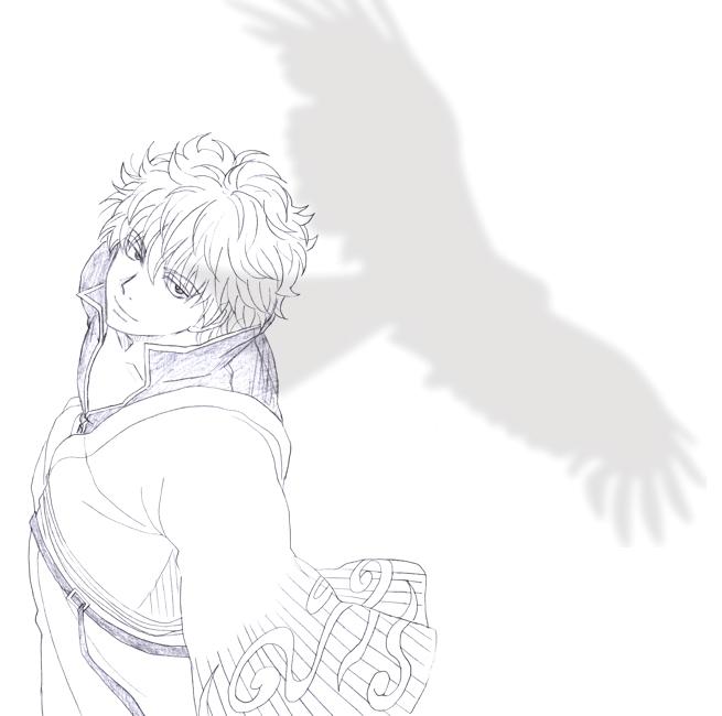 銀さん 鳥 坂田銀時 銀魂
