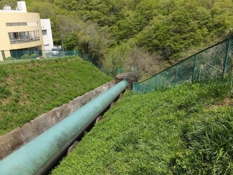 道志第一発電所水圧鉄管