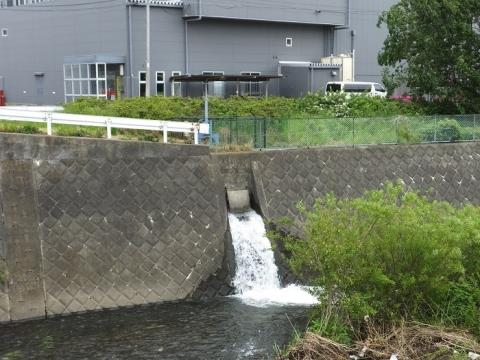 新八木間橋の昭和用水余水吐