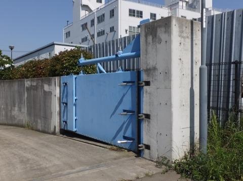 川和遊水地・進入路入口ゲート