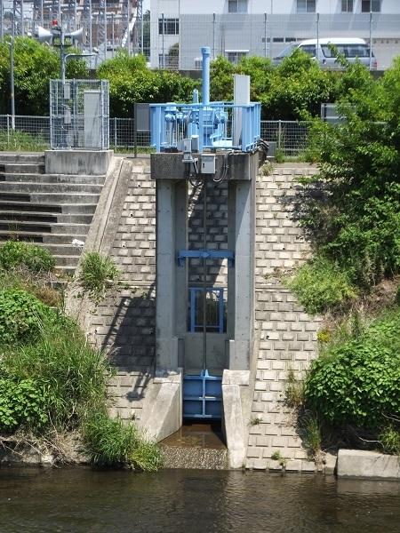 川和遊水地・排水樋管ゲート