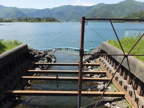 東京電力放水路取入口