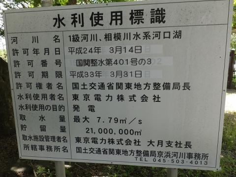 東京電力水利使用標識