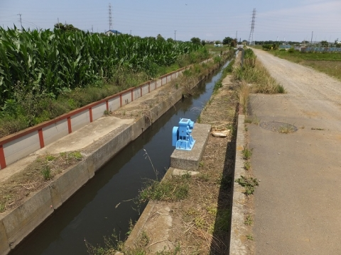 小稲葉排水路・第2工区揚水機場付近