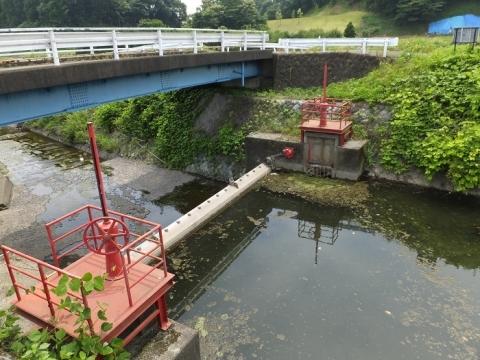 荻野川・万年橋の取水堰