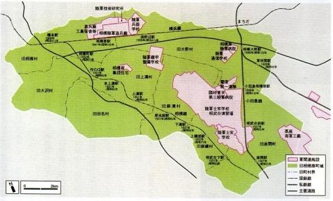軍都相模原の軍関連施設位置図